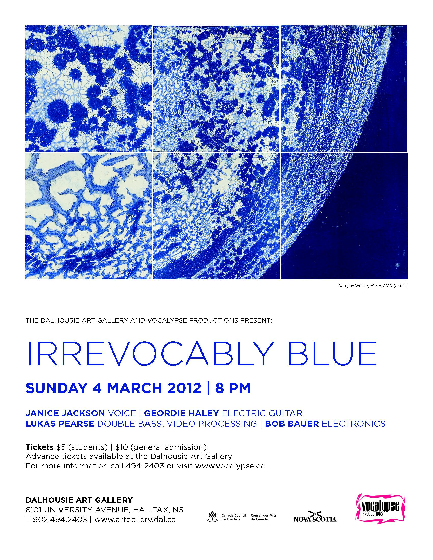 Flyer Poster Irrevocably Blue